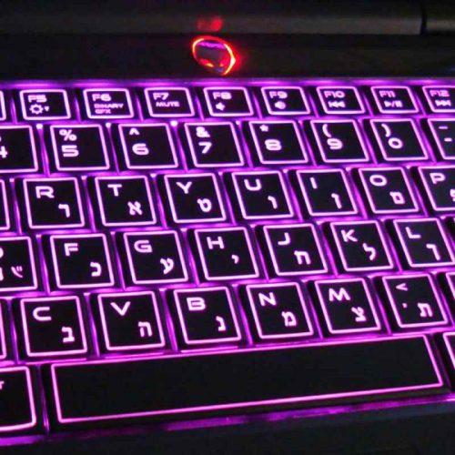 חריטת עברית על מקלדות alienware
