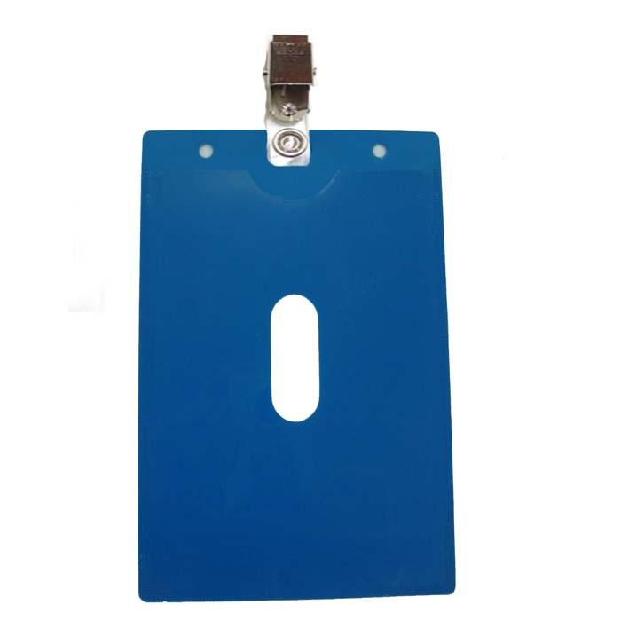 מנשא / מחזיק לתג שם כחול 13.5X10.5 סמ עם תפס קליפס