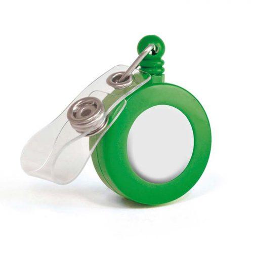 יויו קפיץ לתג (דגם עגול) ירוק