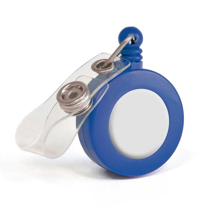 יויו קפיץ לתג (דגם עגול) כחול
