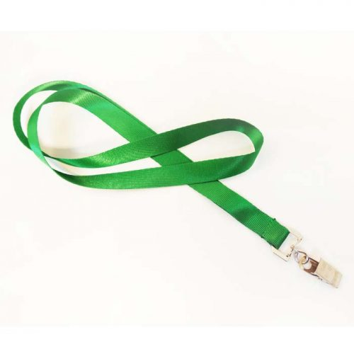 שרוך לצוואר ירוק 1.5 סמ עם קליפס קרוקודיל