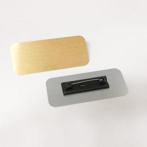 תג מתכת 7X3 סמ עם מגנט ללא הדפס לשימוש אישי