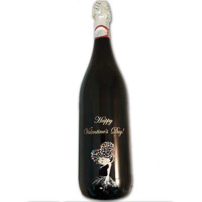 בקבוק יין עם הקדשה