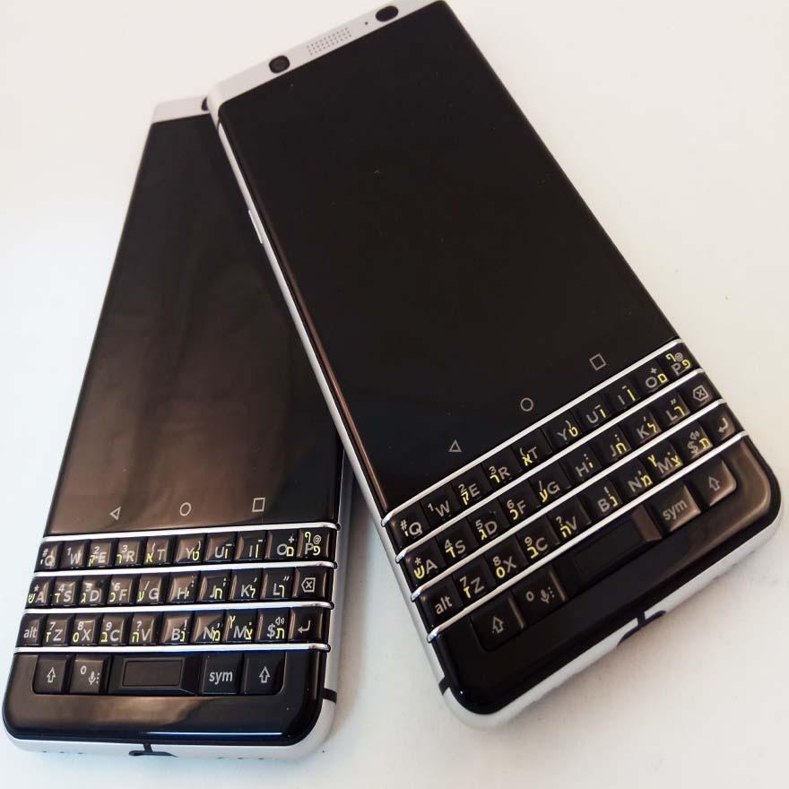 הדפסת עברית על blackberry Keyone