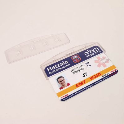 מנשא קשיח 8.5X5.5 סמ סגור עם כרטיס מודפס