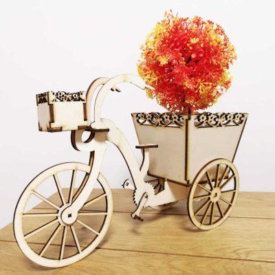 מיניאטורת אופניים חיתוך עץ בלייזר