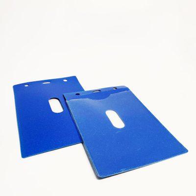 מנשא / מחזיק לתג שם כחול 13.5X10.5 סמ